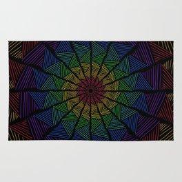 Togetherness- Interwoven Rainbow Texture Rug