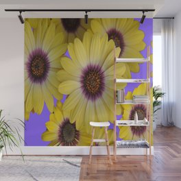 LILAC & YELLOW FLOWERS GARDEN Wall Mural