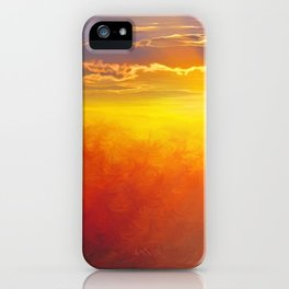 Sunlight waterfall iPhone Case