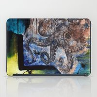 literary iPad Cases featuring Literary Octopus by Sarah Sutherland