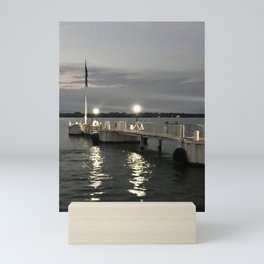"""""""Put in Bay Dock"""" Photography By Willowcatdesigns Mini Art Print"""
