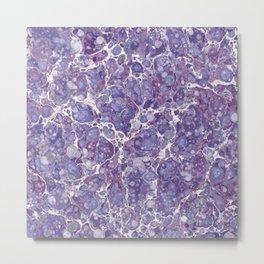 Amethyst Stone Watercolor Texture Metal Print