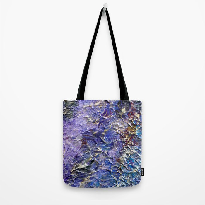 Silver Blue Moon Tote Bag