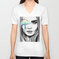 luna V-neck T-shirts featuring Luna by aubreylynna