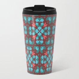 Abstract flower pattern 6b Travel Mug