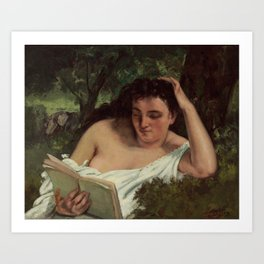 Gustave Courbet - A Young Woman Reading Art Print