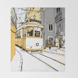 Lisboa Train Throw Blanket