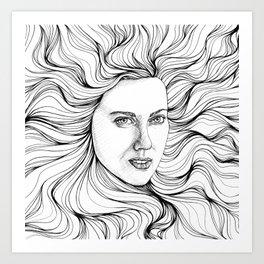 hair swallow Art Print