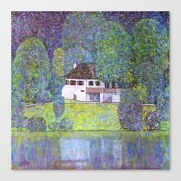 "Gustav Klimt ""Schloss Kammer on the Attersee III"" Canvas Print"