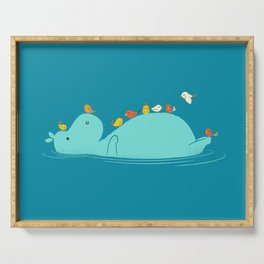 Floating Hippo Serving Tray