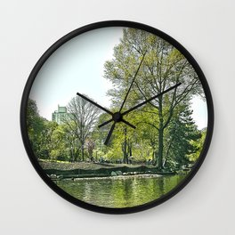 Lake at Central Park - NYC Wall Clock