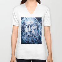 courage V-neck T-shirts featuring Courage by Maria Bruggeman