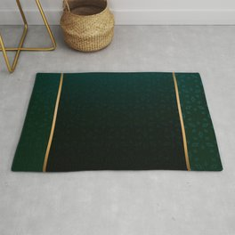 Emerald and Gold Accents Rug