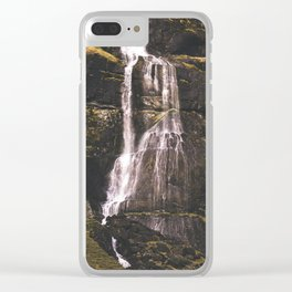 Waterfall Somewhere in Southern Iceland. Clear iPhone Case