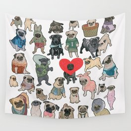 Pugs Wall Tapestry
