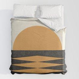 Sunset Geometric Midcentury style Duvet Cover