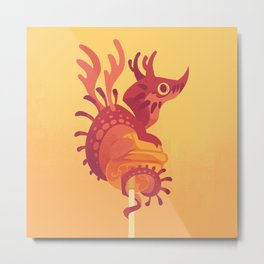 Dragonpop alebrije cherry orange Metal Print
