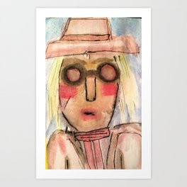 She lived in History. Art Print