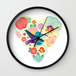 Love - Mother - Life Wall Clock