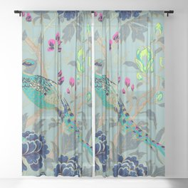 matthew williamson wallpaper peacock Sheer Curtain