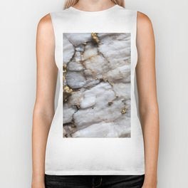 White Quartz with Gold Veining Biker Tank