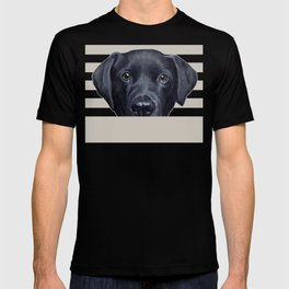 Labrador with white background Dog illustration original painting print T-shirt