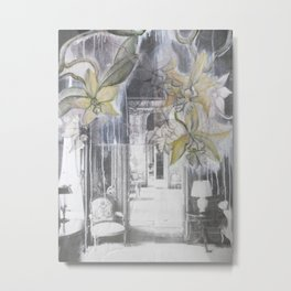 Orchids Full Interior Metal Print
