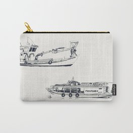 On paper: Capote y Picaflor Carry-All Pouch
