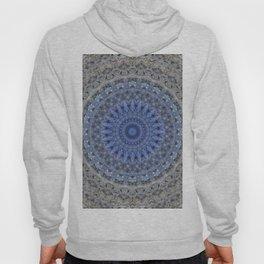 Gray and blue mandala Hoody