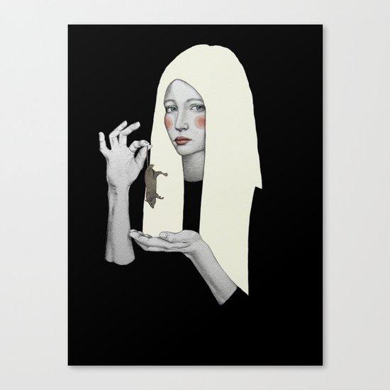 Vana in black Canvas Print