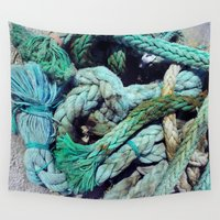 marina Wall Tapestries featuring Malta Marina by nichole graf