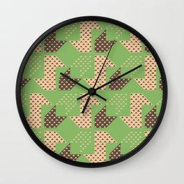 Clover&Nessie Pistachio/Mocha Wall Clock