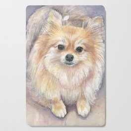 Pomeranian Watercolor Pom Puppy Dog Painting Cutting Board
