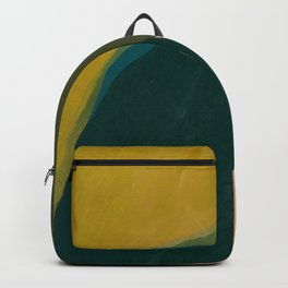 The Colliding Of Two Greens Backpack