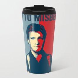 I Aim to Misbehave Travel Mug