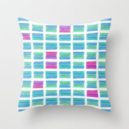 Colored Bubble Gums Pattern Throw Pillow