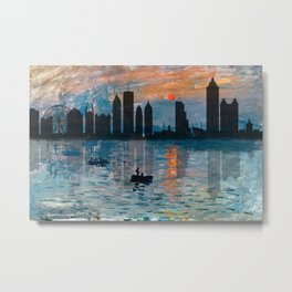 Atlanta Skyline 1 Metal Print