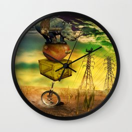 Freewheeling field maneuvers Wall Clock