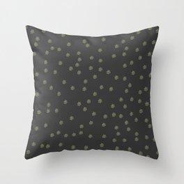 Minimal Flower Doodle Pattern Throw Pillow