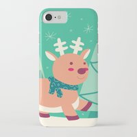 reindeer iPhone & iPod Cases featuring Reindeer by Claire Lordon