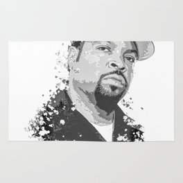 Ice Cube splatter painting Rug