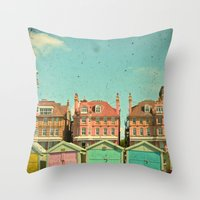 cassia beck Throw Pillows featuring Promenade by Cassia Beck