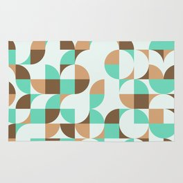 Mint and Chocolate Fresh Pattern Rug