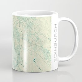Edinburgh Map Blue Vintage Coffee Mug