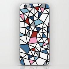Segment Pink and Blue iPhone & iPod Skin