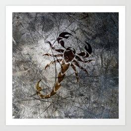 Grunge Scorpion Art Print