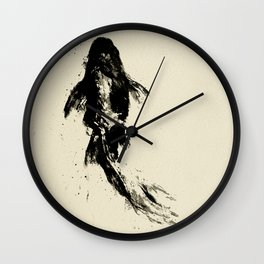 Black Koi Wall Clock