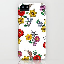 Hungarian floral repeat 1 iPhone Case