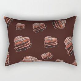 Heart chocolate cake  Rectangular Pillow