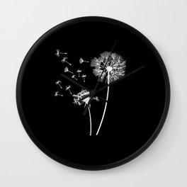 Dandelion Shirt Dandelions Gift Floral print woman Wall Clock
